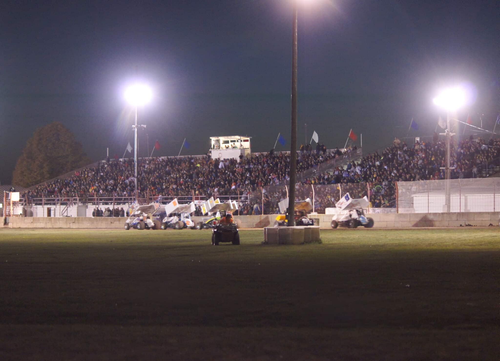 Full Grandstands on Race Night