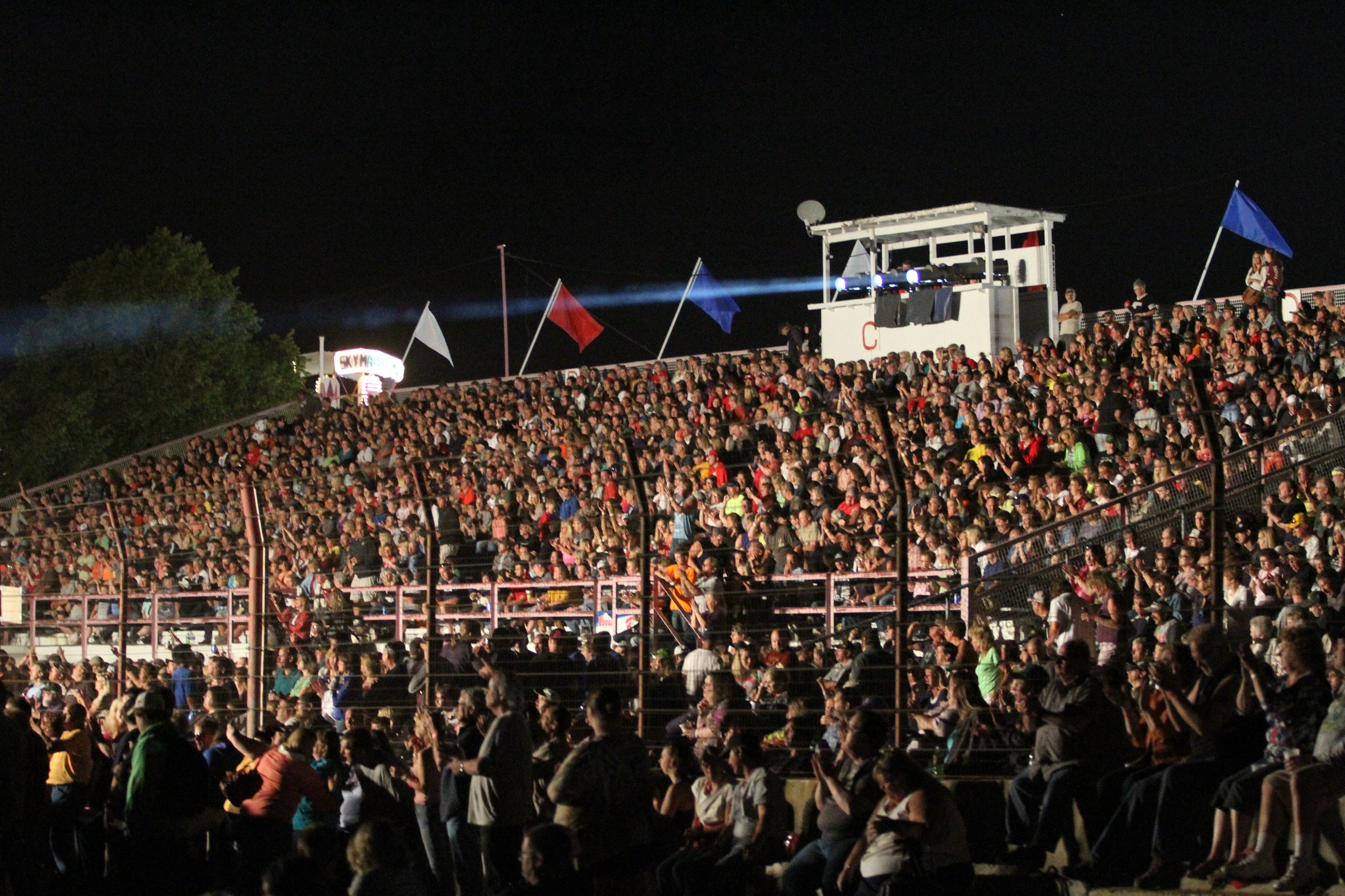 Dodge County Fair Full Grandstand Crowd