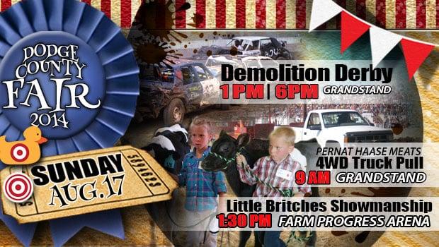 Smash em Crash em in the Action Auto Demolition Derbies at 1pm and 6pm.