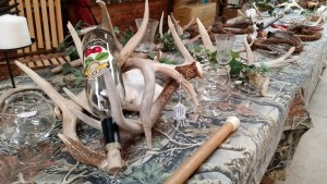 Deer Antler Wine Bottle Holders at the Dodge County Flea Market