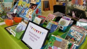 Handmade Cards and Childrens Educational Books at the Flea Market