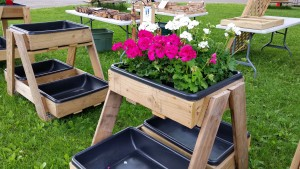 Homemade Large Planters at the Flea Market