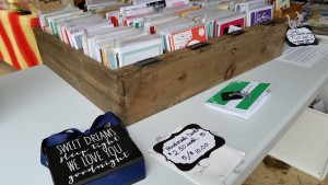 Custom Greeting Cards at the Flea Market
