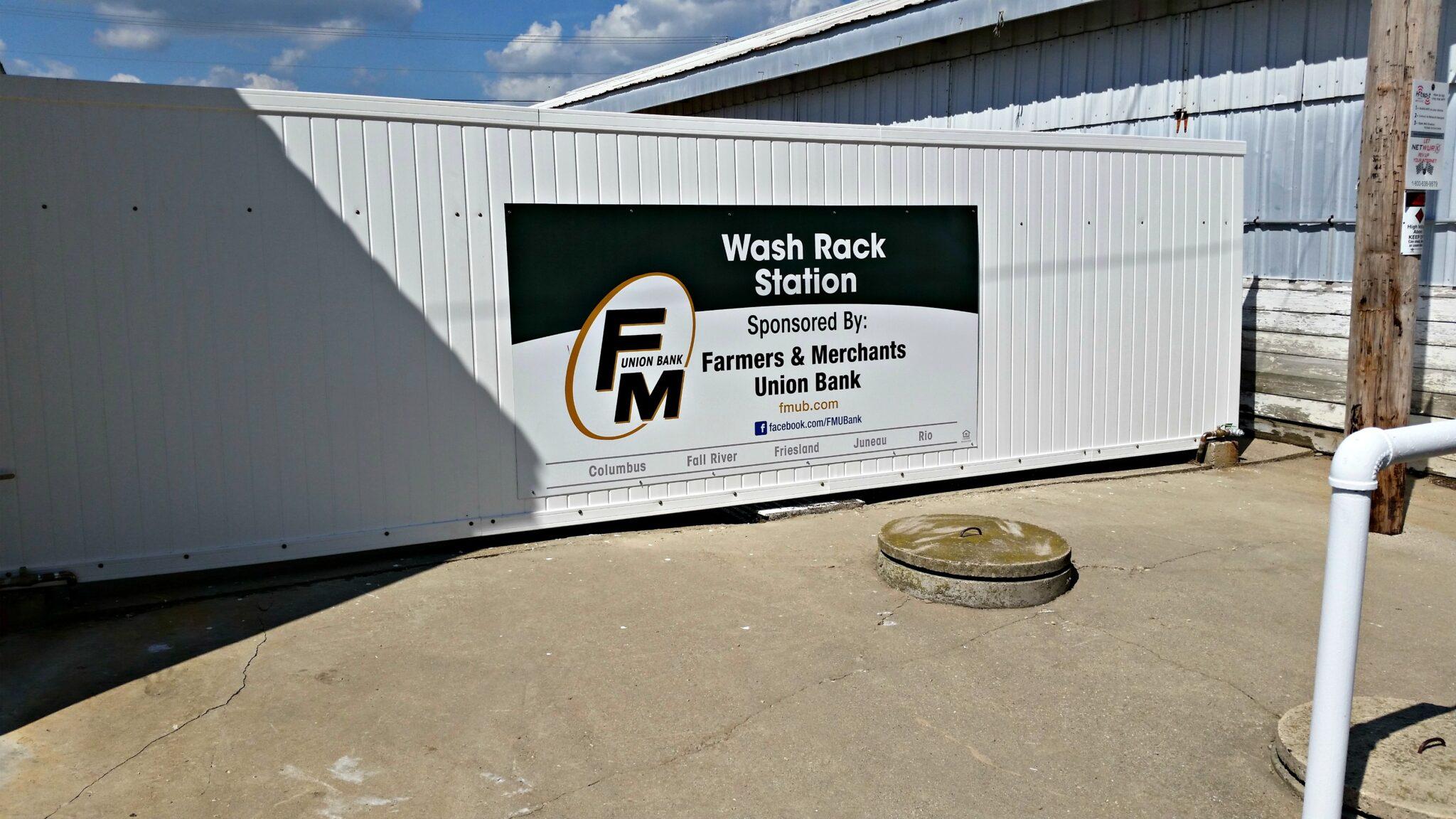 Farmers & Merchants Union Bank Wash Rack Station Sponsorship