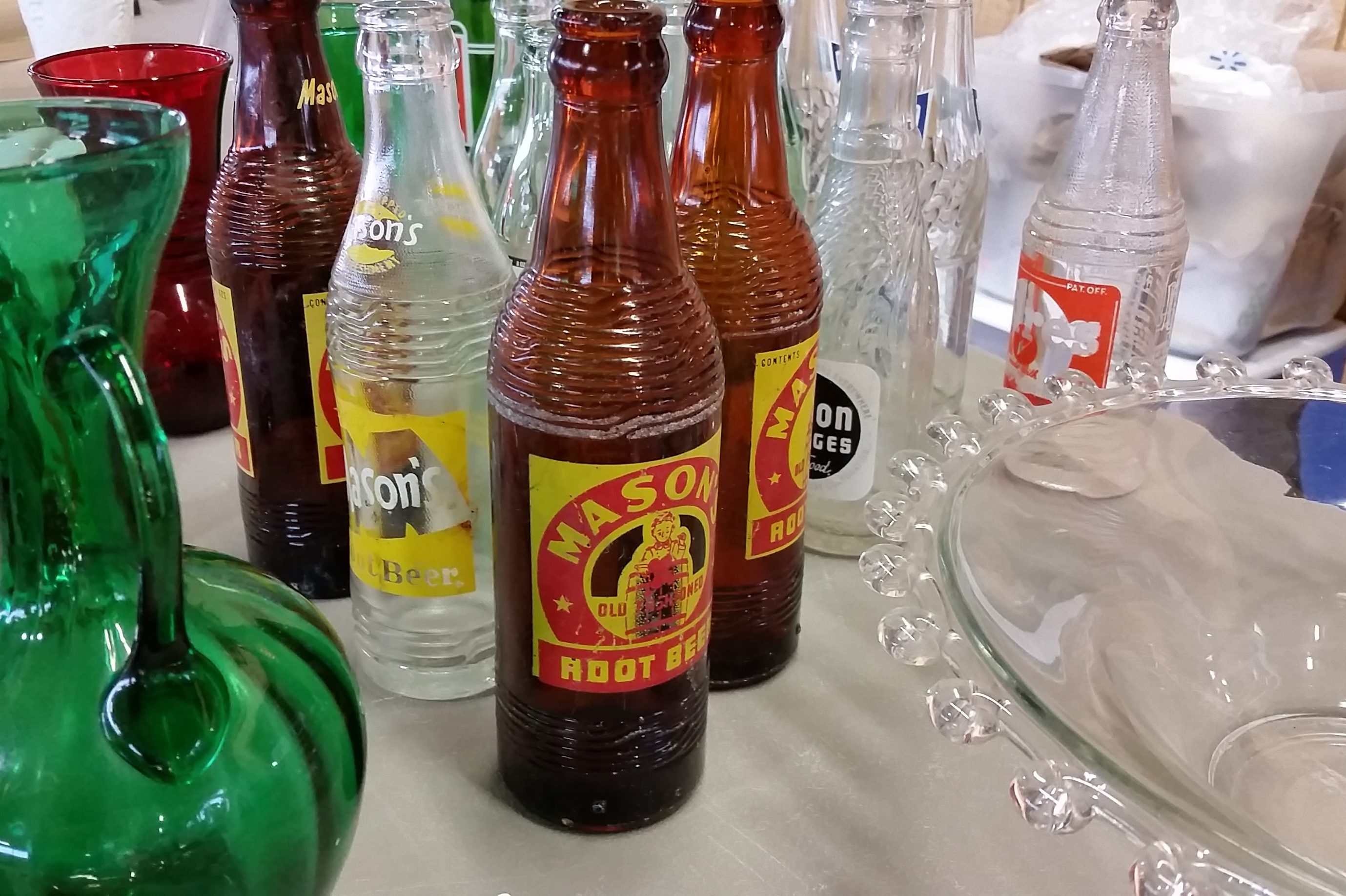 Collector Bottles at the Dodge County Flea Market