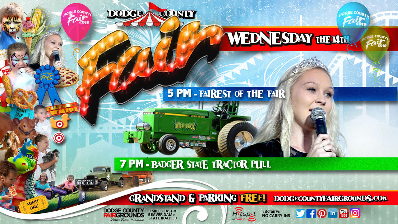 2019-08-14 Wednesday Dodge County Fair Promo
