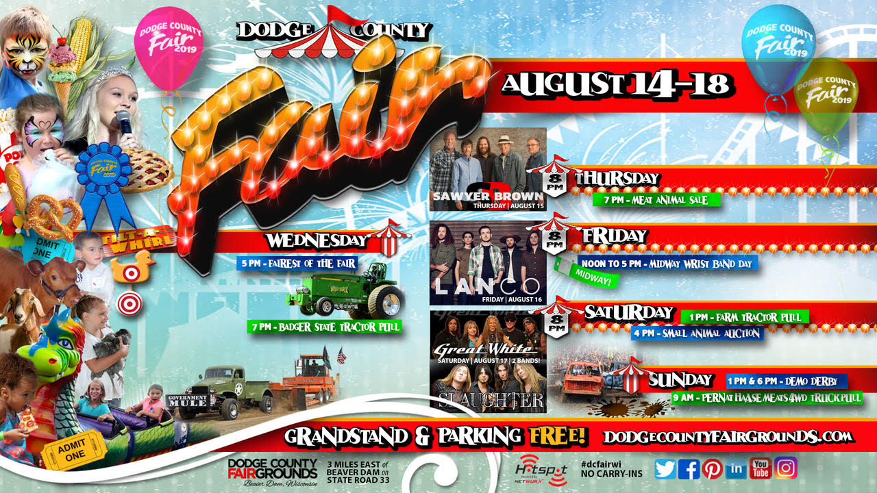 2019-08 Five Days Dodge County Fair Promo