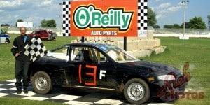 Jason Fairbank Vic's Auto Furious Four Heat Race Win