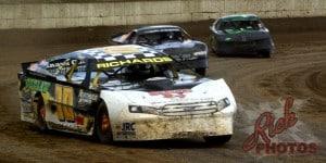 Jeff Richards turn four Dirt Track Racing