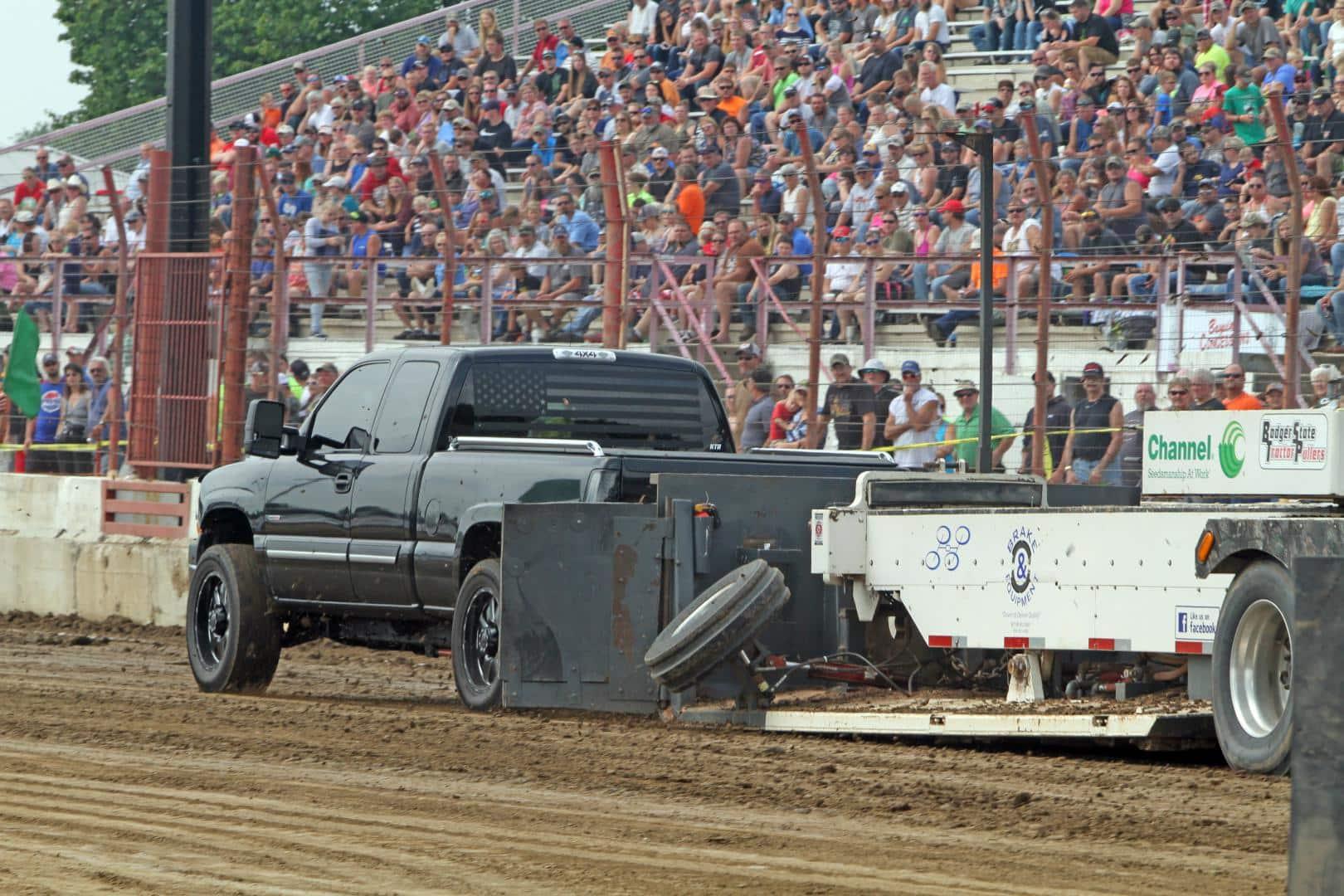 Black Chevy Custom Wheels Badger Truck Pulling Wisconsin