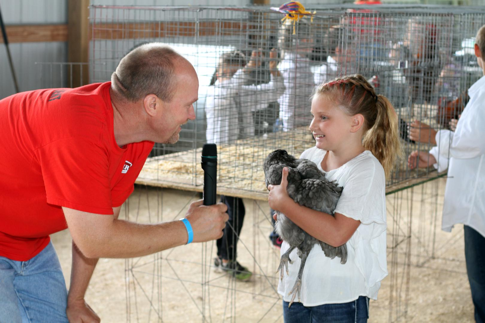 Dan Schwandt interviews Junior Fair Poultry