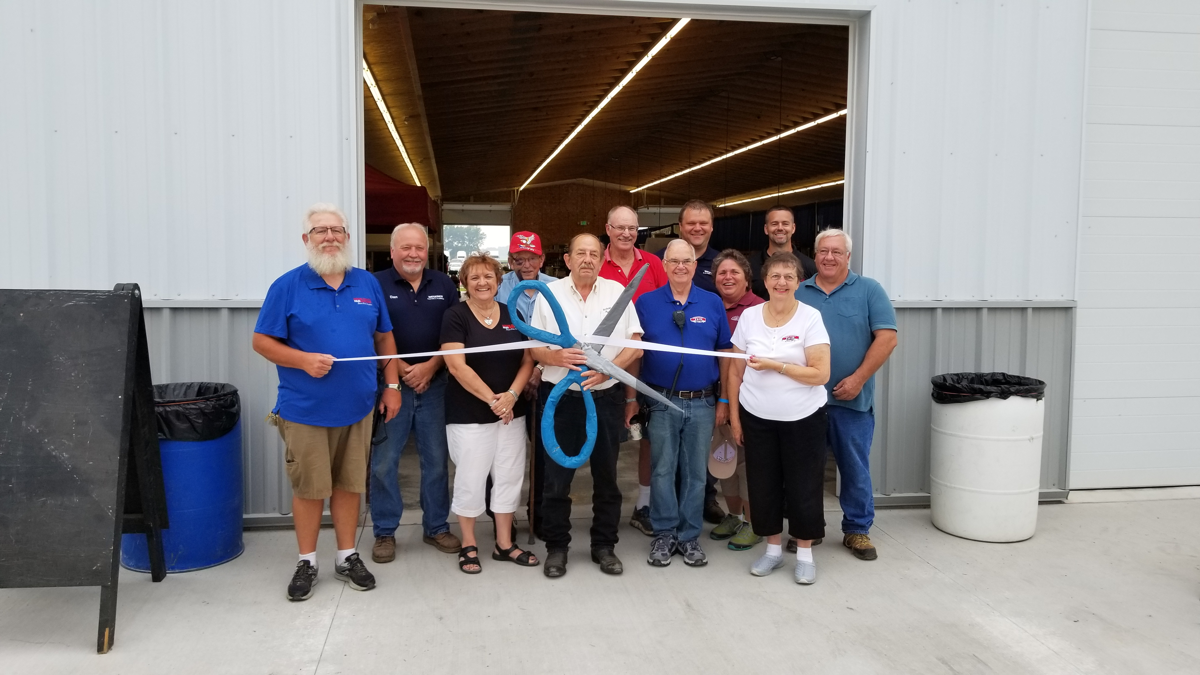 Opening of Commercial Exhibit Building 1