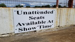 Unattended Seats Available at Show Time Large Signs