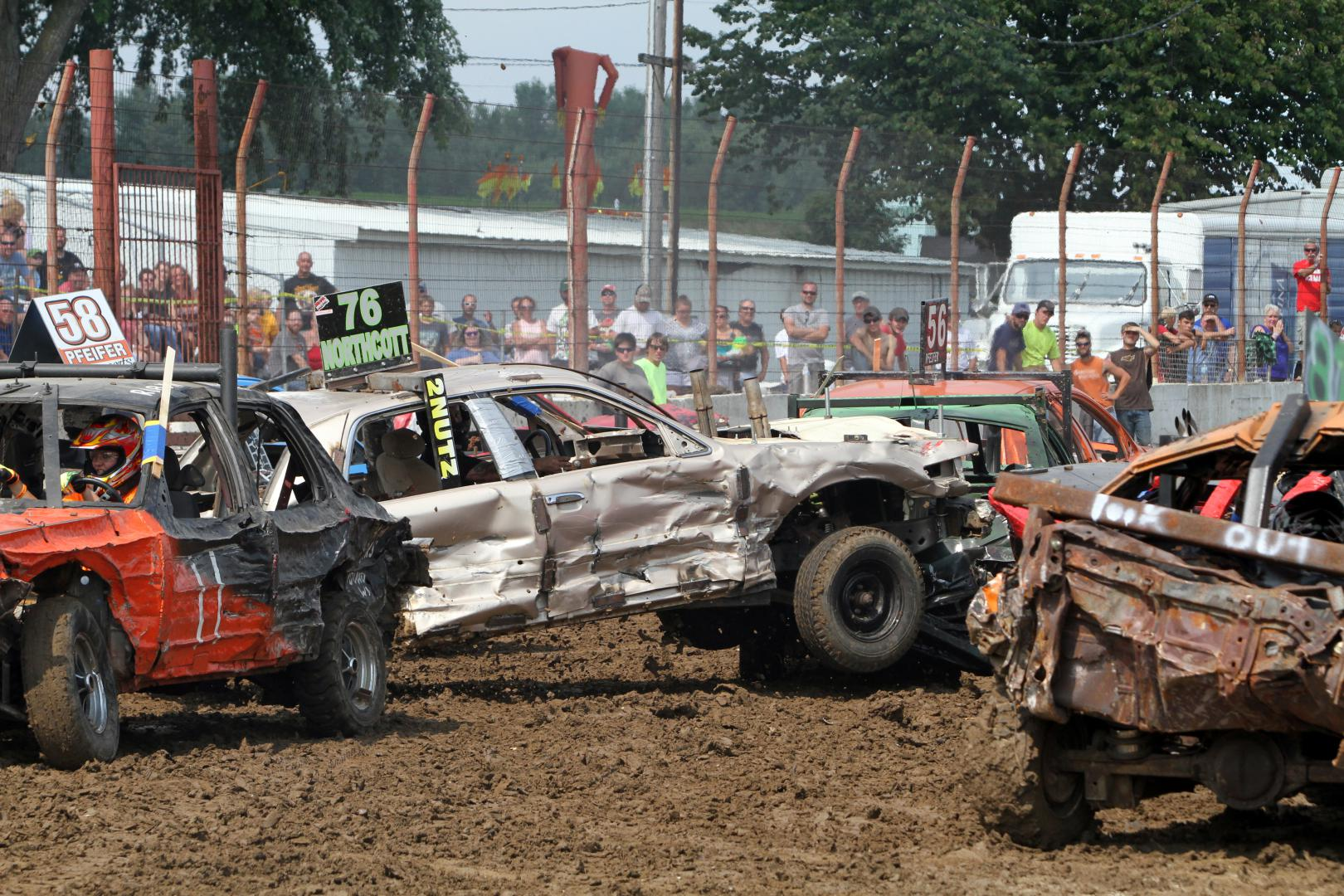 Wisconsin Demolition Derby at Dodge County Fair