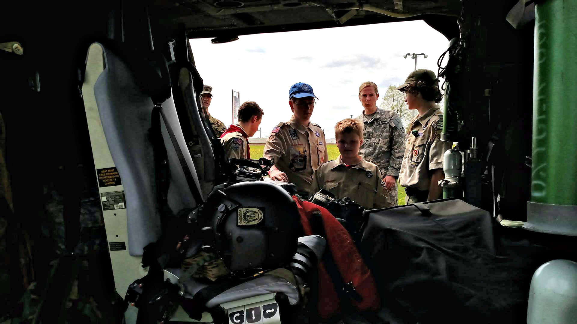 Wisconsin National Guard Boy Scouts Tour